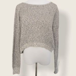 American Eagle Grey Cropped Sweater - Sz Large